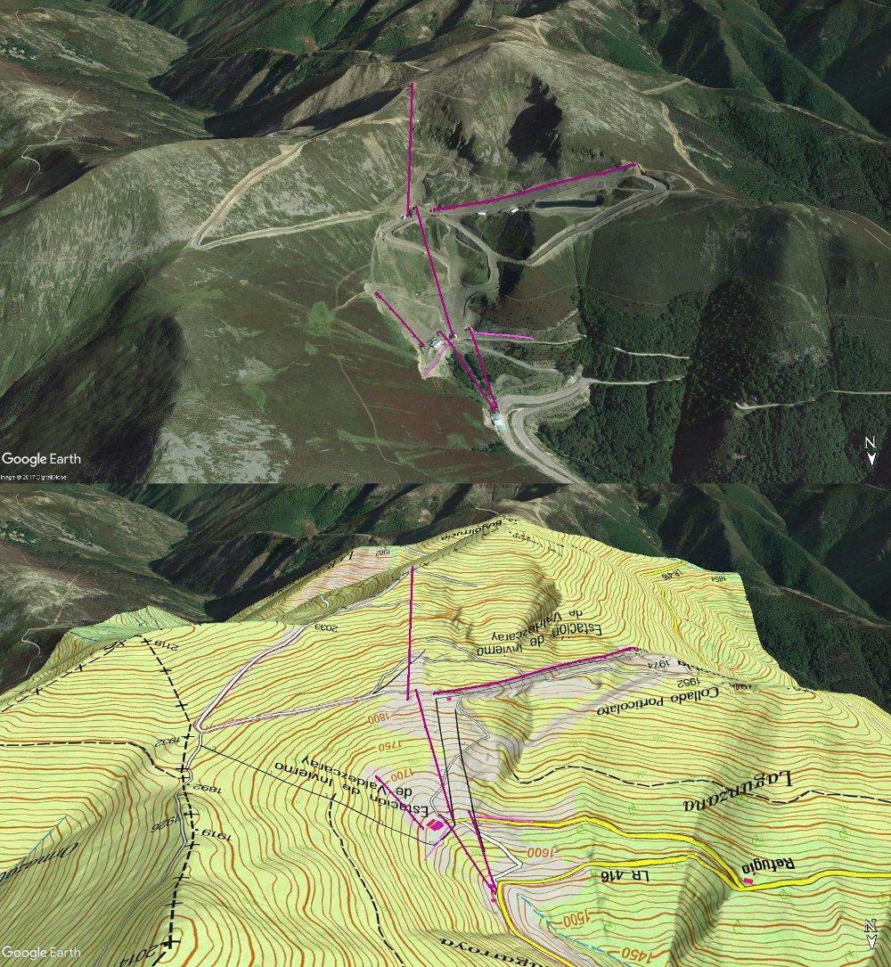 Vistas Google Earth Valdezcaray 2017-18