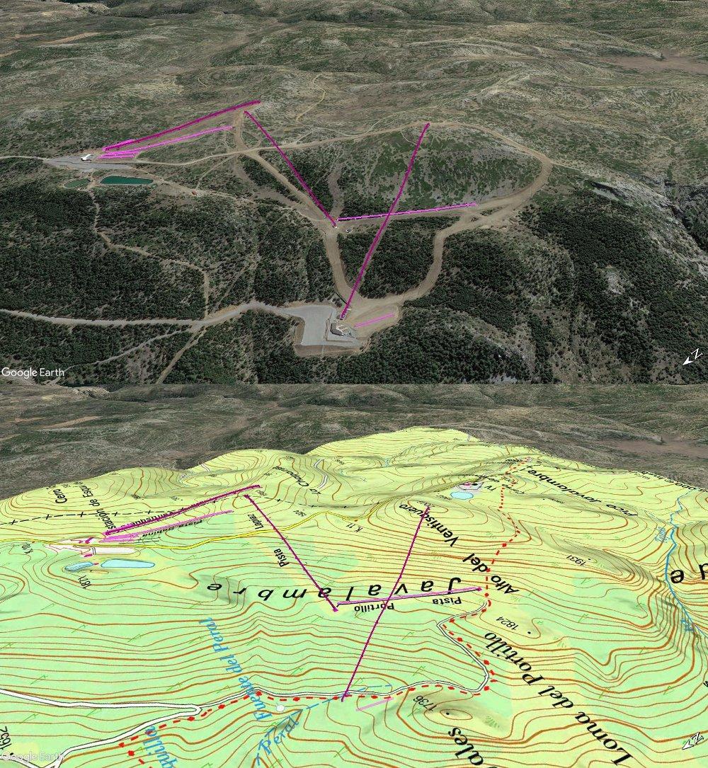 Vistas Google Earth Javalambre 2017-18