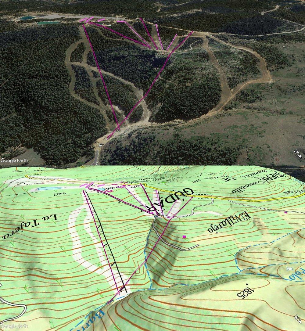 Vistas Google Earth Valdelinares 2017-18