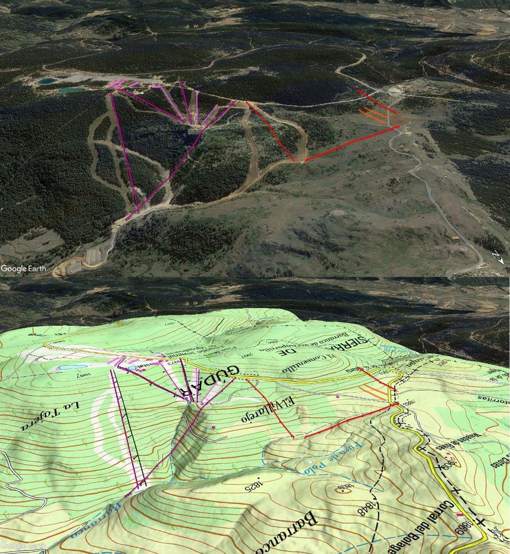 Vistas Google Earth Ampliación de Valdelinares 2017-18