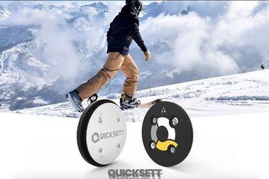 Quicksett: la fijación que convierte una tabla de snowboard en un esquí efímero