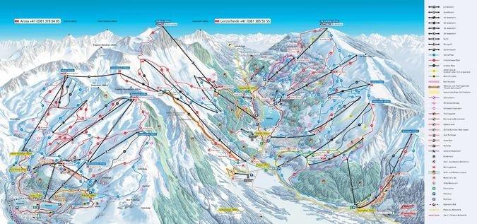 Mapa de pistas de Arosa-Lenzerheide