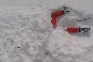 Curioso accidente de esquí poco antes del 'gran apagón'
