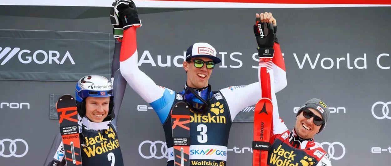 Ramon Zenhäusern, un gigante que gana en slalom