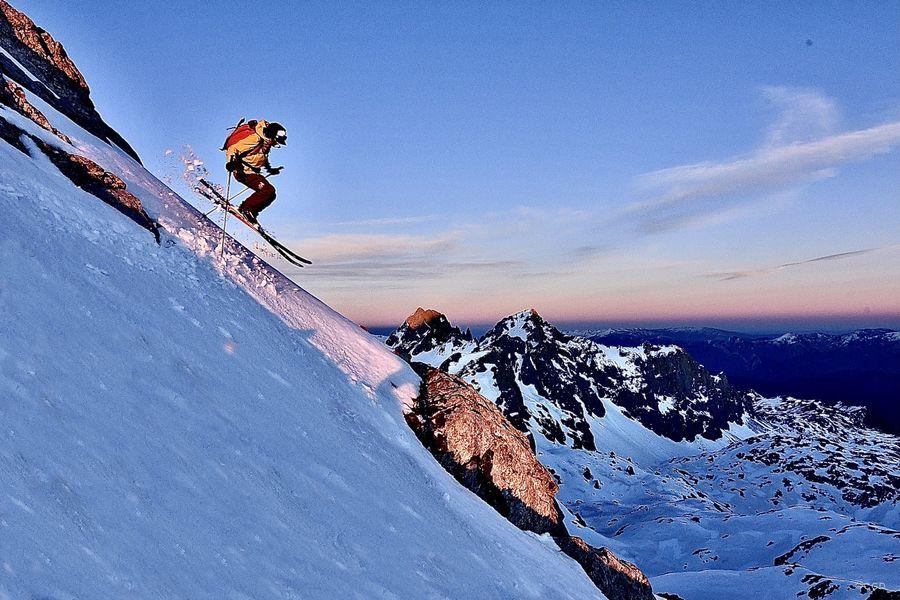 Pepin Roman esquiando freeride en Cantabria