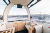Este telecabina de Moscú tiene una lujosa cabina VIP para esquiadores