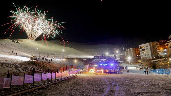 Este sábado ski nocturno y fuegos artificiales en La Parva