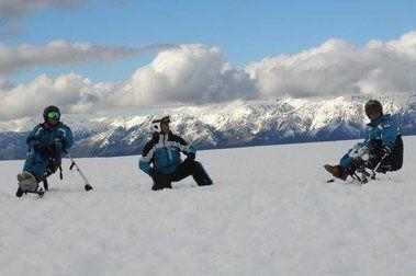 El equipo argentino de esquí adaptado, en El Bolsón
