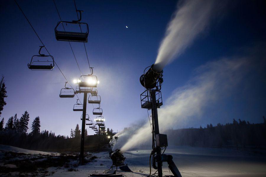 Nieve artificial en Lake Tahoe