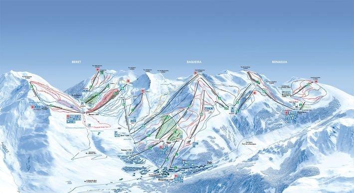 Mapa de pistas de Baqueira Beret