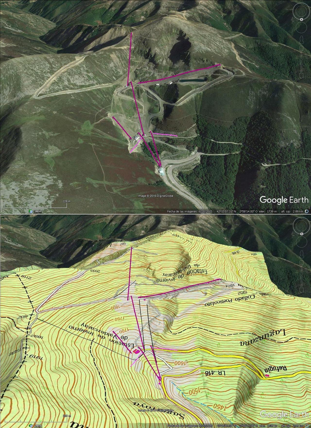 Vistas Google Earth Valdezcaray 2016-17