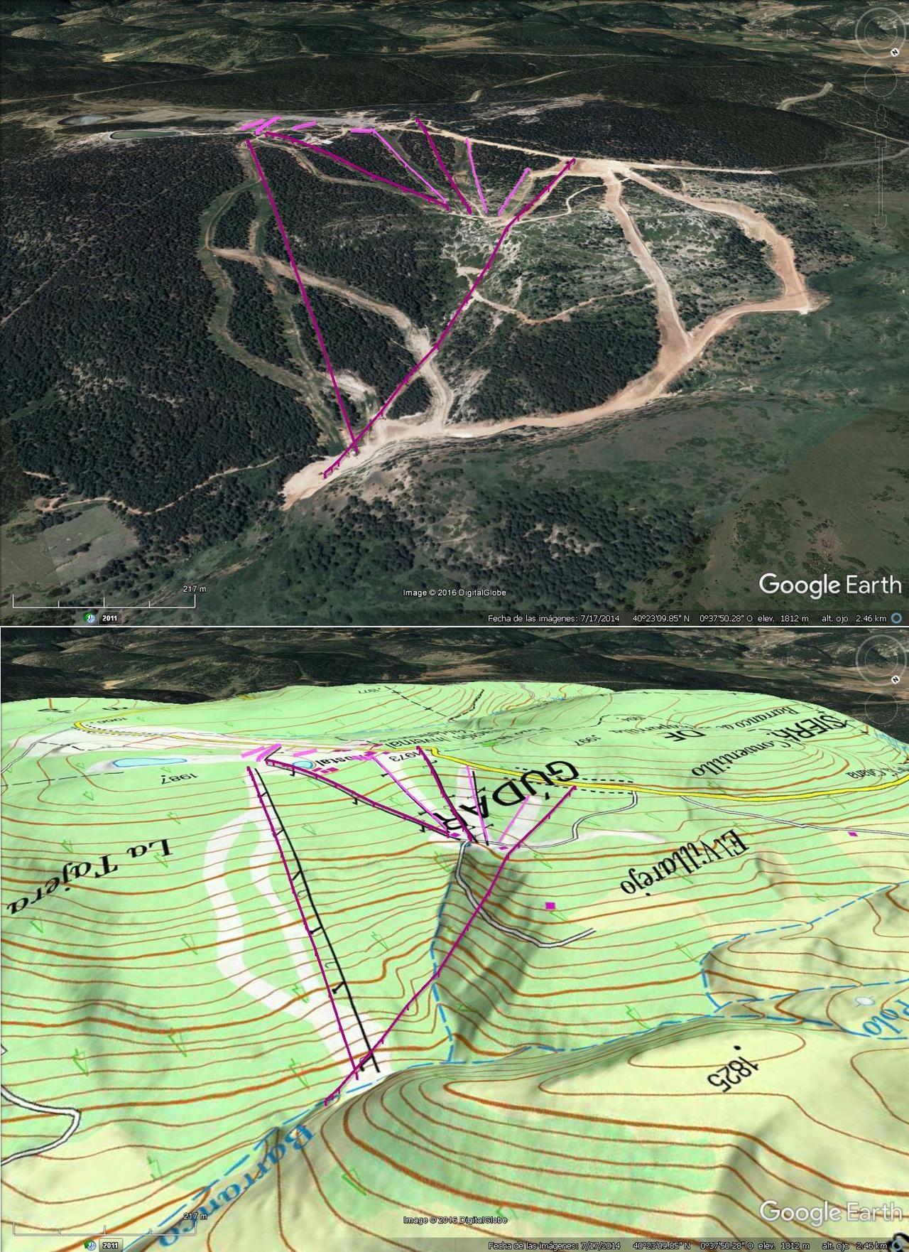Vistas Google Earth  Valdelinares 2016-17