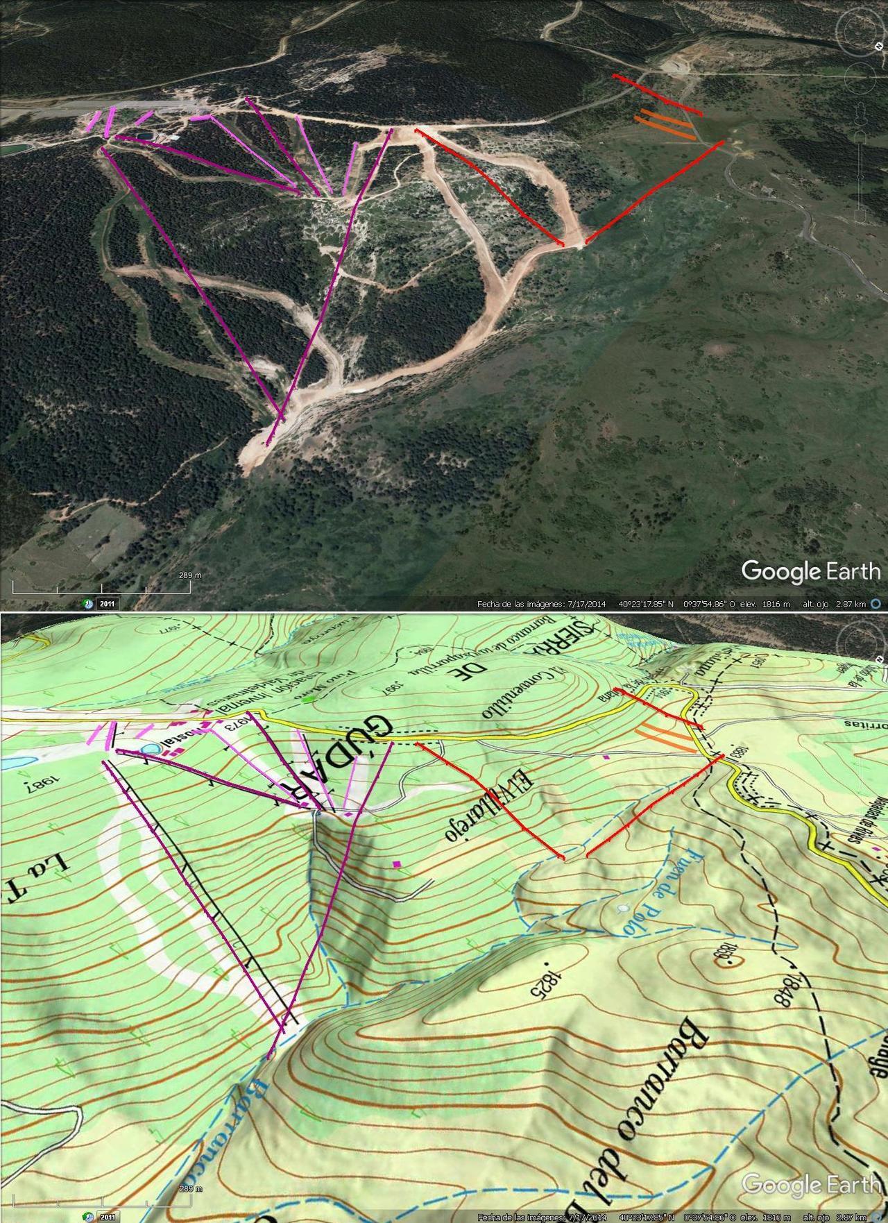 Vistas Google Earth  Ampliación de Valdelinares 2016-17