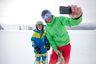 hijos, padres, precoces, selfie, autofoto, niños,