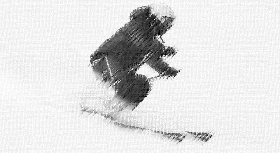 Fluir en el esqui dibujo 1