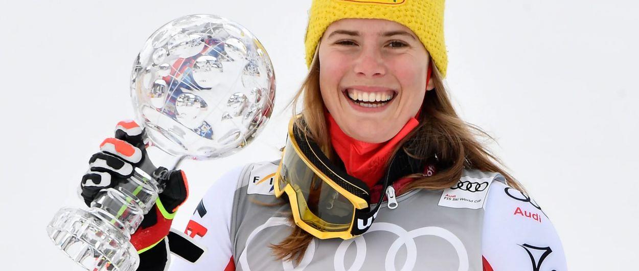 Katharina Liensberger gana el Globo de Slálom y Petra Vlhova el de la General