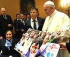 El Papa recibe al equipo austriaco de esquí