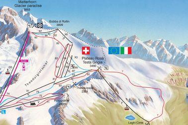 Breuil-Cervinia espera poder abrir su teleférico para el esquí el 27 de junio