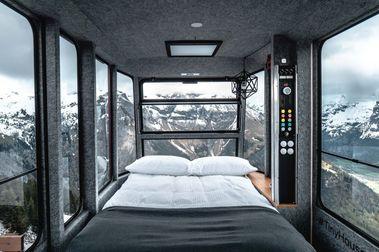 La estación de esquí de Engelberg Brunni instala una habitación muy vertiginosa