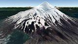 Vista Google Earth Volcán Osorno 2021
