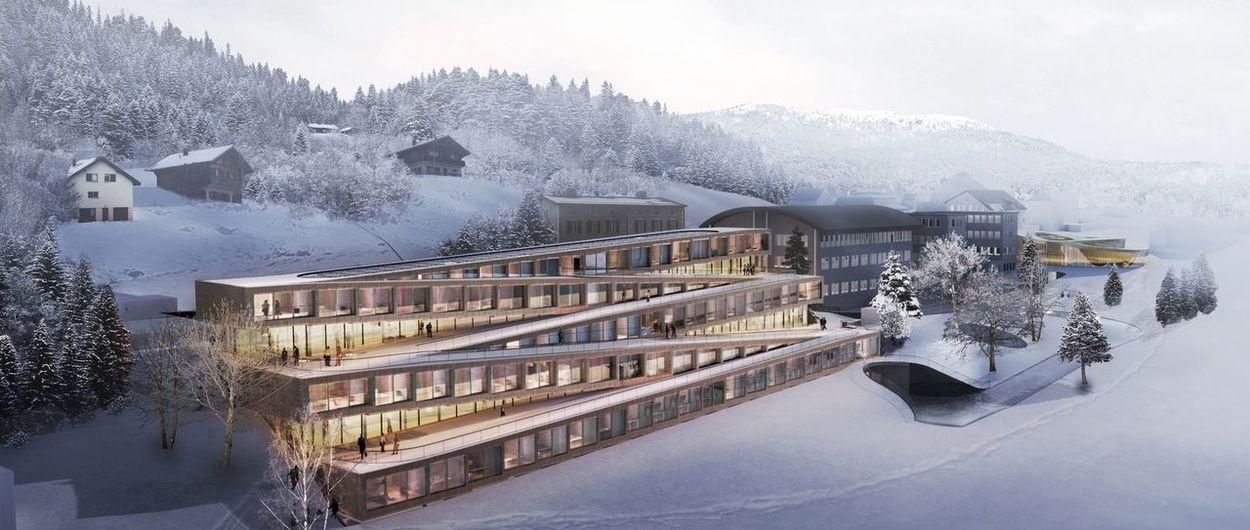 En el Hotel Audemars Piguet empezarás a esquiar desde su azotea