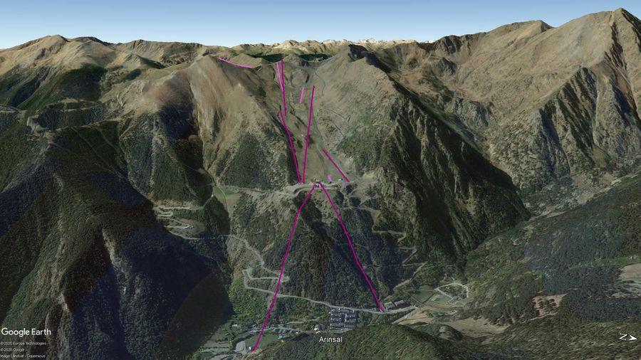 Vista Google Earth Arinsal Temporada 2020/21