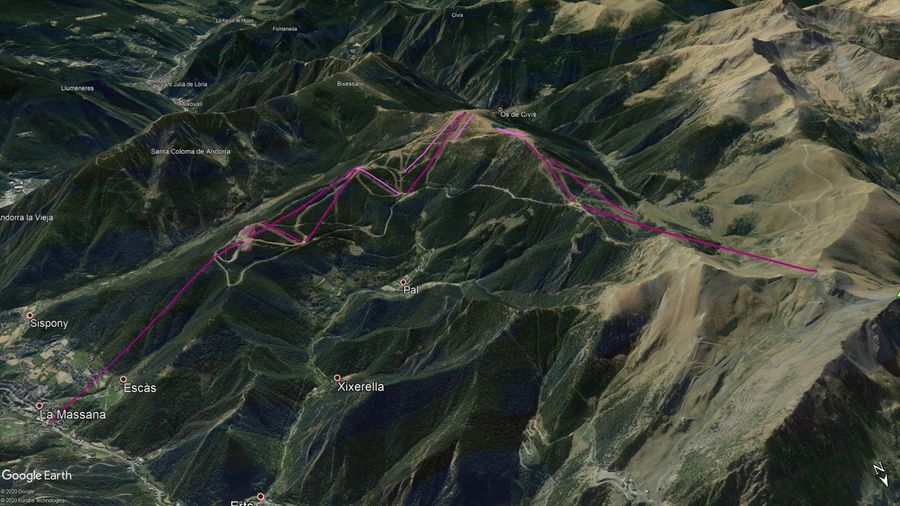 Vista Google Earth Pal Temporada 2020/21