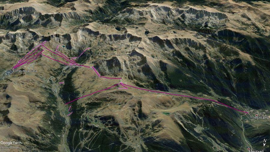 Vista Google Earth Pas Grau Encamp Temporada 2020/21