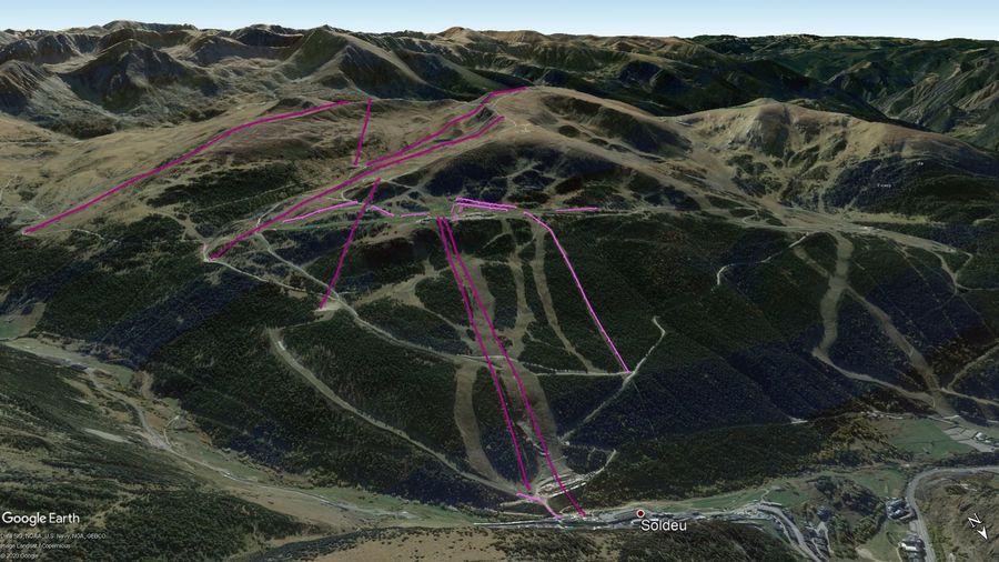 Vista Google Earth Soldeu Temporada 2020/21