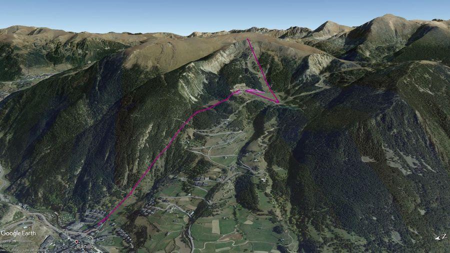Vista Google Earth Canillo Temporada 2020/21