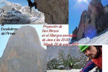 Proyección en Jaca sábado 26 de enero: Pan Aroma, Pilar del Cantábrico y Corredor Norte del Dru