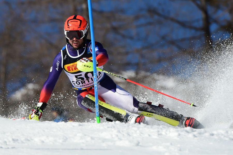 Alex Puente en el Slalom de Cortina d'Ampezzo