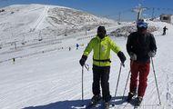 Aprovechando la nevadeta en Valdesquí (20.3.21)