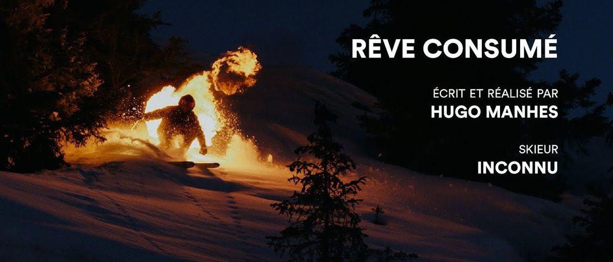 Esquiador en llamas desciende Alpe d'Huez para concienciar sobre el cambio climático