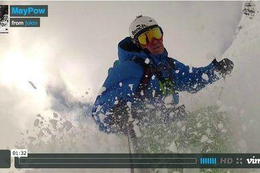Nieve polvo en Mayo en Astún