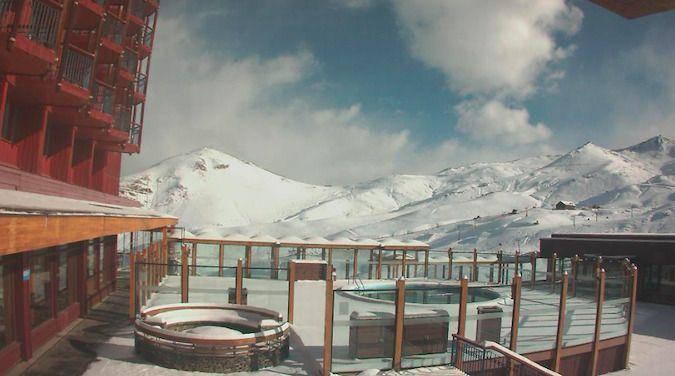 La Cordillera de Los Andes se tiñó de blanco