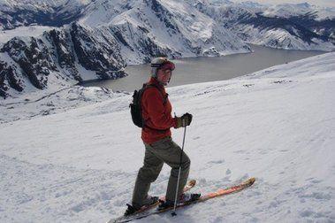 Esquiar en el Volcán Antuco