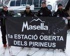 Los primeros que han esquiado esta temporada