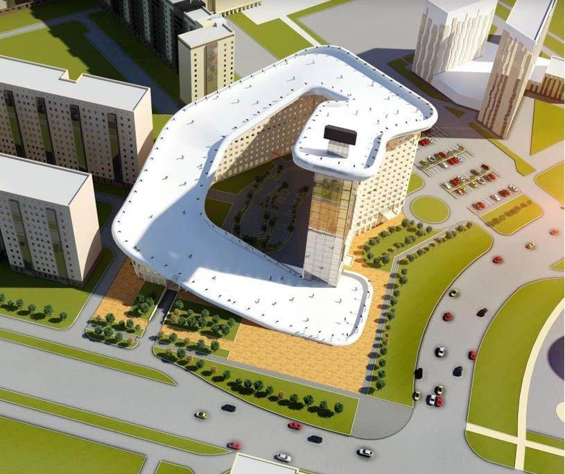 Kazajist N Proyecta Un Edificio Con Rampa De Esqu