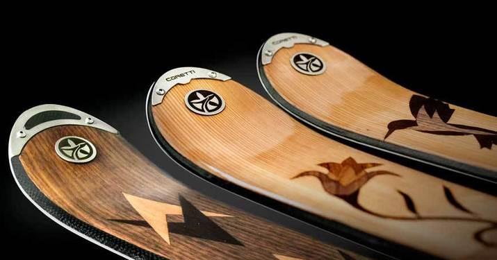 Coretti incorpora el acero inoxidable en los acabados de sus esquís