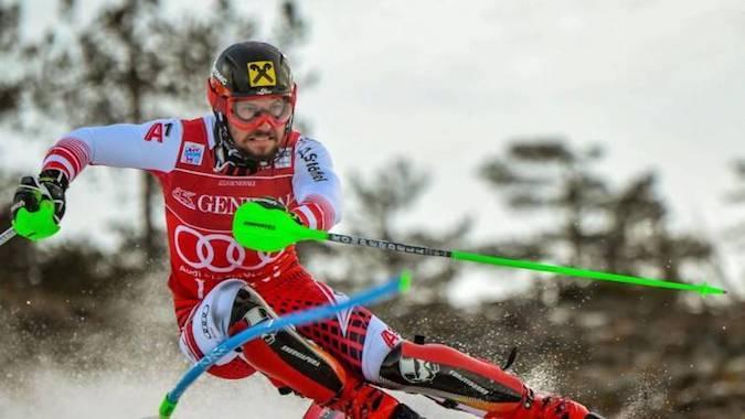 Marcel Hirscher y Mikaela Shiffrin ganaron el slalom de Levi