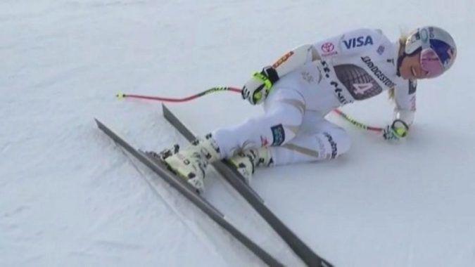 Lindsey Vonn se lesiona y no estará en las carreras de Lake Louise