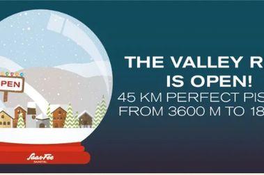Saas Fee abre la Valley Ruy: la pista más larga del mundo actualmente