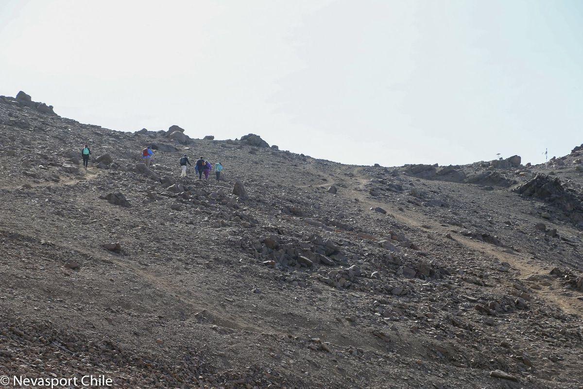 Subiendo el Cerro Pintor