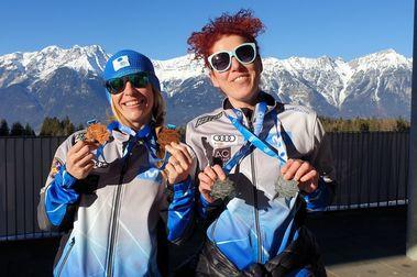 Podios de Cristina Caba y Rocío Carbajal en los Winter World Master Games de Innsbruck