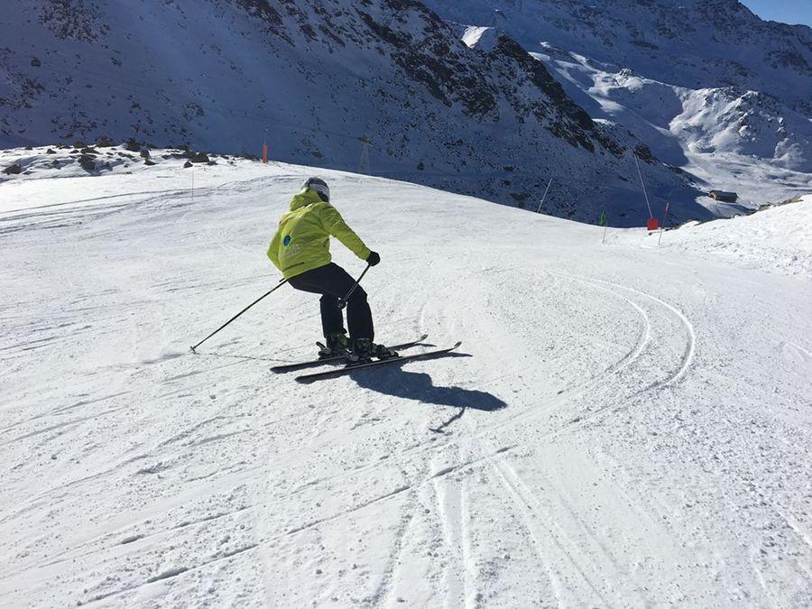 Esquiando en Valthorens