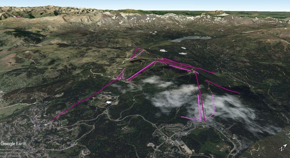 Vistas Google Earth  Font Romeu - Pyrénées 2000 2017-18
