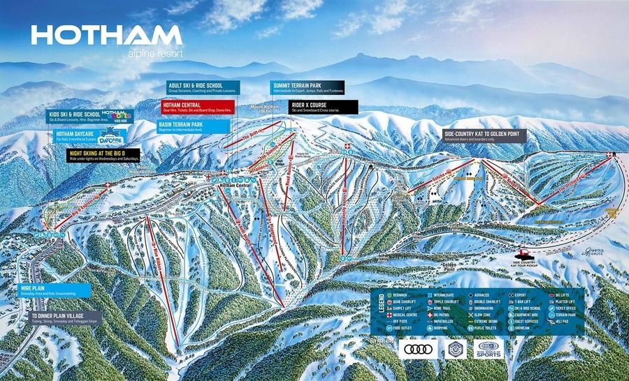 Plano pistas de Mt. Hotham