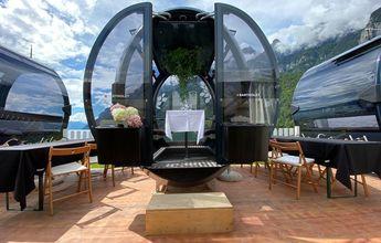 Cabinas de remonte para comer en restaurantes de las estaciones de esquí