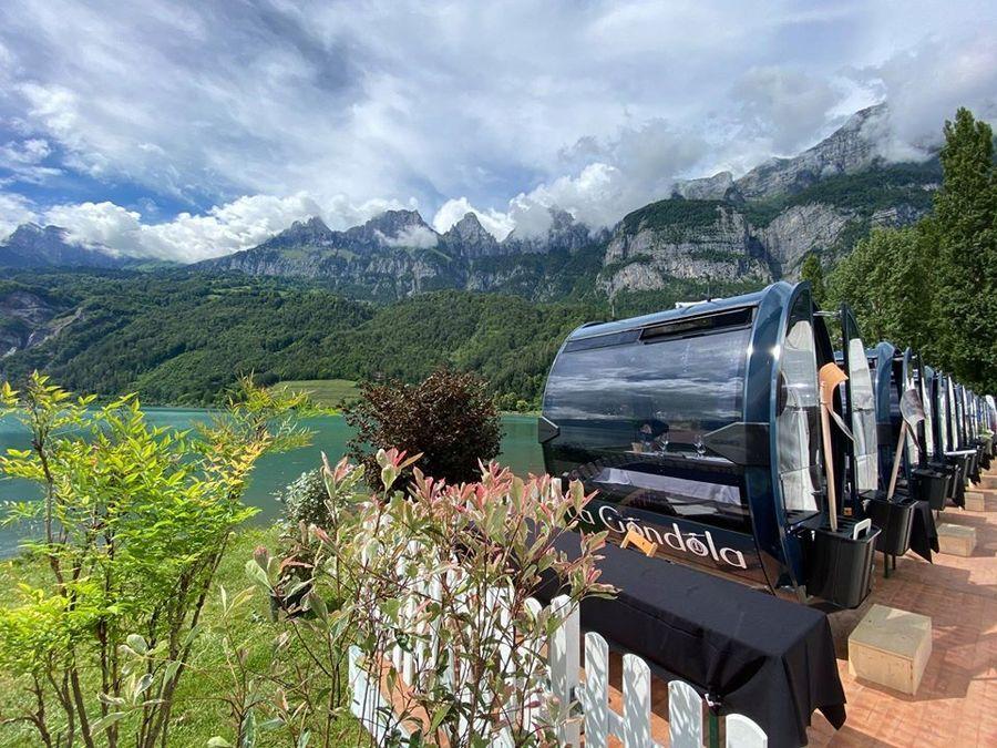 Cabinas para comer en las estaciones de esquí